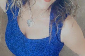 Matorka u plavoj cipkanoj majci